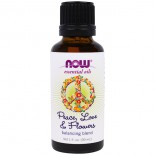 Essential Oils- Peace- Love & Flowers- Balancing Blend (30 ml) - Now Foods