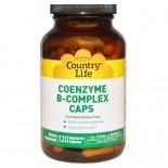 Vitamine B Country Life, Gluten Free, Coenzyme vitamine B-Complex Caps, 120 Veggie Caps