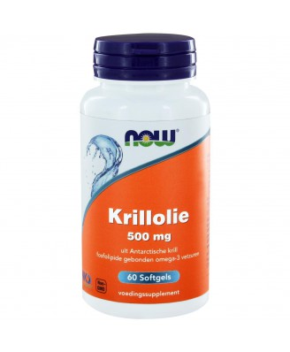 Krill Olie 500 mg (60 softgels) - Now Foods
