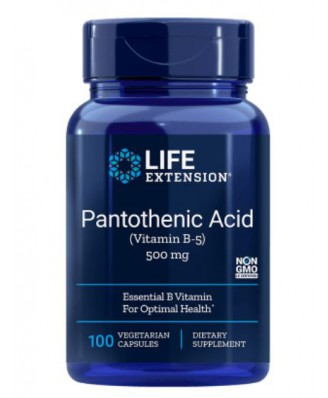 Pantotheenzuur (Vitamine B5) 500 Mg 100 Capsules - Life Extension