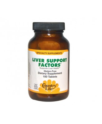 Country Life, Gluten Free, Liver Support Factors, 100 Tablets