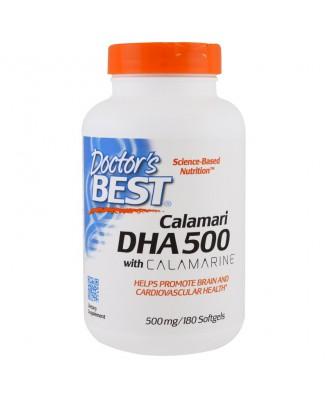 Calamari DHA 500 with Calamarine 500 mg (180 Softgels) - Doctor's Best