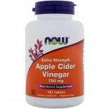 Apple Cider Vinegar- Extra Strength 750 mg (180 tablets) - Now Foods