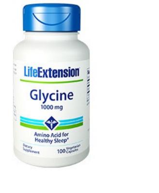 Glycine 1000 mg - 100 Capsule Vegitali - Life Extension