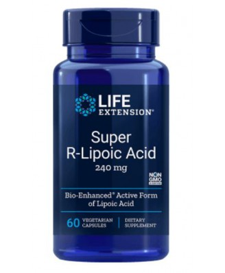 Super R-Lipoic Acid 240 mg (60 Veg Capsules) - Life Extension
