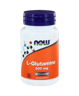 L-Glutamine 500 mg (60 caps) - NOW Foods