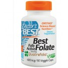 Fully Active Folate 400 with Quatrefolic 400 mcg (90 Veggie Caps ) - Doctor's Best
