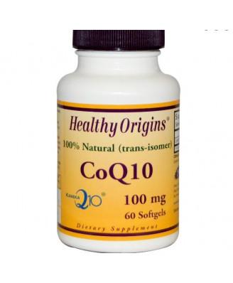CoQ10 Gels (Kaneka Q10), 100 mg, (60 Softgels) - Healthy Origins