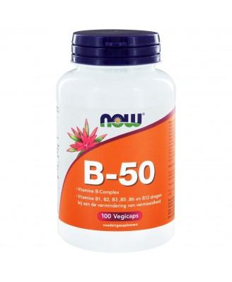 B-50 Caps Vitamine B-Complex (100 capsules) - Now Foods