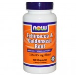 Echinacea en Goldenseal Root 225/225 mg mix (100 Capsules) - Now Foods