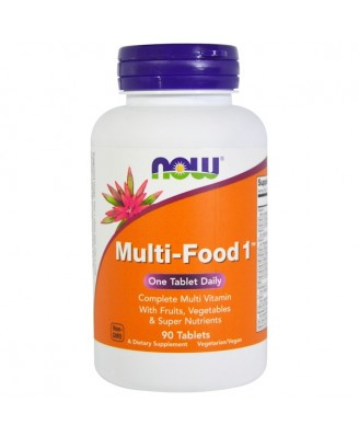 Multi-Food 1 (90 tablets) - Now Foods
