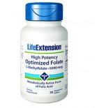 Alta Potencza Folato Ottimizzato L-Metilfolato 5000 Mcg - 30 Compresse Vegetariane - Life Extension