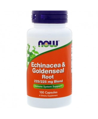Echinacea & Goldenseal Root (100 capsules) - Now Foods