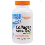 Doctor's Best, Best Collagen Types 1 & 3, 1000 mg, 180 Tablets