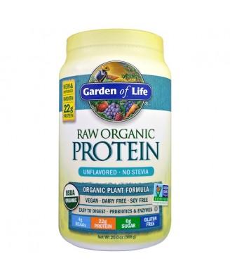 RAW Organic Protein- Organic Plant Formula Unflavored (568 gram) - Garden of Life