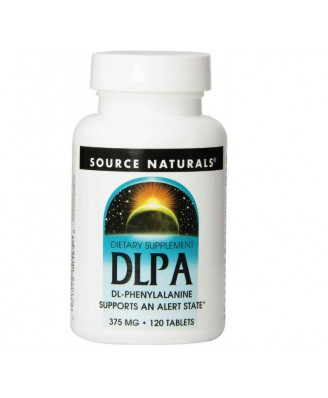 Source Naturals, DLPA, 375 mg, 120 Tablets