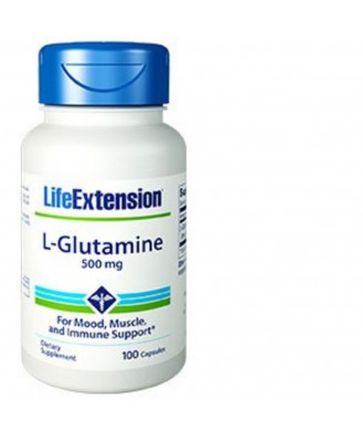 L-Glutamina, 500 Mg 100 Capsule - Life Extension