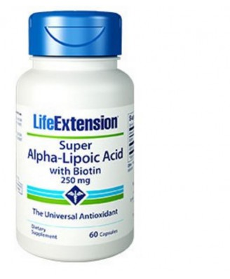 Super Alpha-Acido Lipoico Con Biotina 250 Mg - 60 Capsule - Life Extension