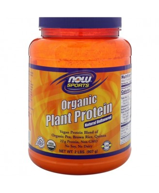 Organic Plant Protein- Natural Unflavored (908 gram) - Now Foods