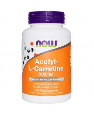 Acetyl-L-Carnitine 500 mg (100 Veg Caps) - Now Foods