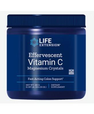 Bruisende vitamine c - magnesium kristallen 180g - Life Extension