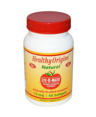 Lyc-O-Mato Tomato Lycopene Complex 15 mg (60 Softgels) - Healthy Origins