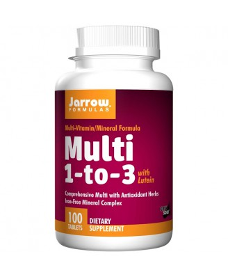 Multi 1-to-3 with Lutein Iron-Free (100 tablets) - Jarrow Formulas