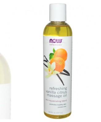 Refreshing Vanilla Citrus Massage Oil (237 ml) - Now Foods