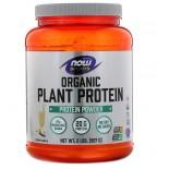 Organic Plant Protein- Natural Vanilla (909 gram) - Now Foods