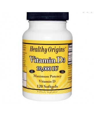Vitamine D3, 10.000 IE (120 softgels) - Healthy Origins