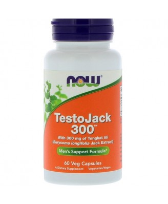 TestoJack 300 - 300 mg (60 Vegetarian Capsules) - Now Foods
