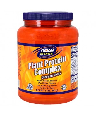 Plant Protein Complex- Chocolate Mocha (907 gram) - Now Foods