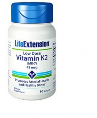 Low-Dose Vitamin K2 45 Mcg - 90 Softgels - Life Extension