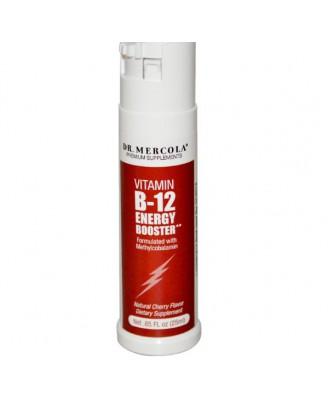 Dr. Mercola, vitamina B-12 Energy Booster, sapore di ciliegio naturale,.85 fl oz (25 ml)