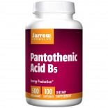 Pantothenic Acid B5 500 mg (100 Capsules) - Jarrow Formulas