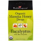Organic Manuka Honey Drops Eucalyptus with Bee Propolis (120 gram) - Wedderspoon Organic