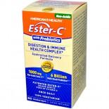 American Health, Ester-C con probiotici, digestione & salute sistema immunitario complesso, 60 compresse Veggie