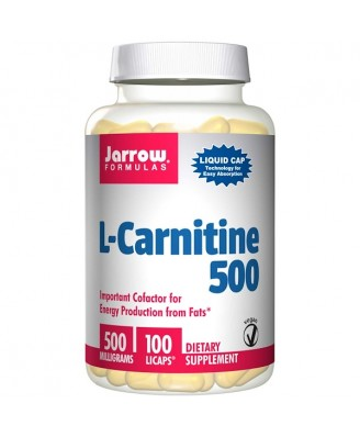 L-Carnitine 500 mg (100 Vegetarian Capsules) - Jarrow Formulas