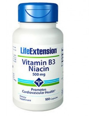 Vitamina B3 Niacina 500 Mg - 100 Capsule- Life Extension