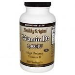 Vitamin D3- 2400 IU (360 Softgels) - Healthy Origins