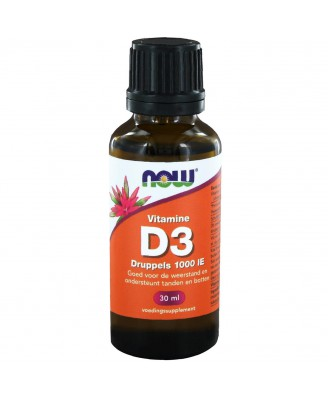Vitamine D-3 druppels 1000 IE (30 ml) - Now Foods