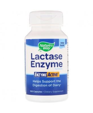 Nature's Way, Lactase Formula EnzymeActive, 100 Capsules