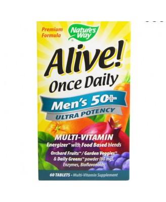 Alive! Een Per Dag Multivitamine, Mannen 50+, Hoge Dosering - Nature's Way