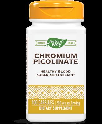 CHROMIUM PICOLINATE 200 MCG (100 CAPSULES) - NATURE'S WAY
