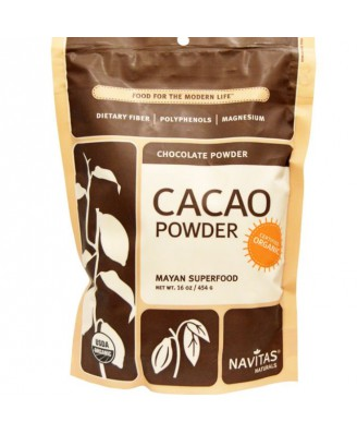 Fave di cacao, in polvere, Raw & Organic (454 grammi) - Navitas Naturals