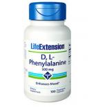 D, L-fenilalanina capsule 500mg - 100 capsule vegetali - Life Extension