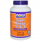 Super Omega 3 - 6 - 9, 1200 mg (180 Softgels) - Now Foods