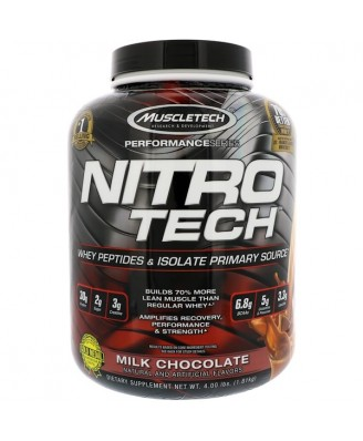 Nitro-Tech Whey Protein Powder Milk Chocolate, 1.81kg - Muscletech