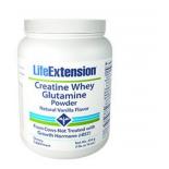 Creatina in polvere di siero di latte glutamina (vaniglia) - 454 grammi - Life Extension