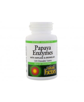 Papaya Enzymes (120 Chewable Tablets) - Natural Factors